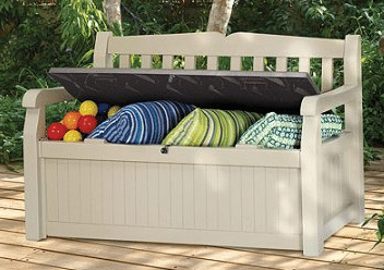 Resin Outdoor Bench with Storage