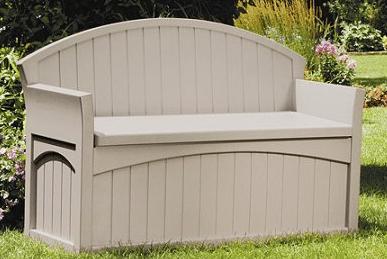 Suncast 50 Gallon Storage Box With Seat Outdoor Room Ideas