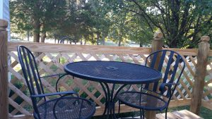 Bistro Set on a deck