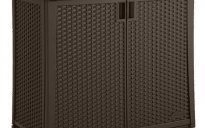 Vertical Vinyl Outdoor Storage Shed
