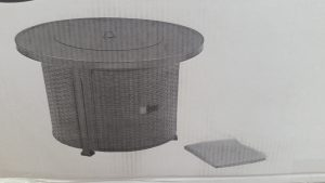 Colebrook Gas Fire Pit with cover