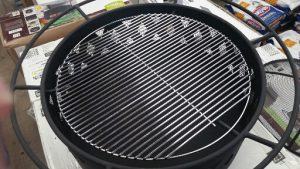 Grilling grate for heavy duty fire pit