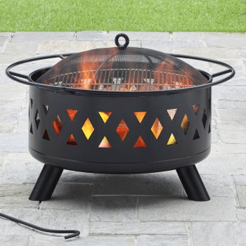 28 in Heavy Fire Pit Wood Burning