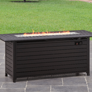 Carter Hills fire pit for wood deck