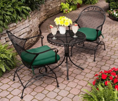 Calyton Court Table and 2 chairs in green
