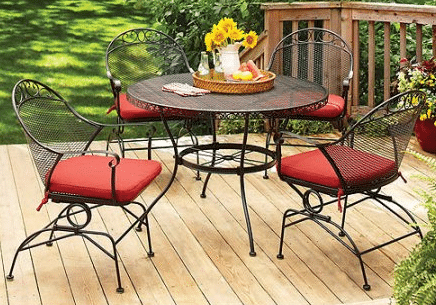 Need an attractive Metal Patio Table with Chairs