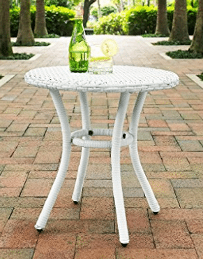 4 Round Patio Side Tables in amazing styles and colors