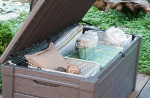 Open Keter storage box