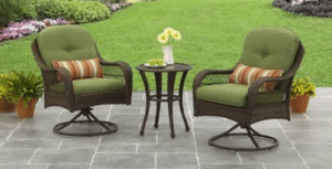 Azalea Ridge Brown resin wicker bistro set