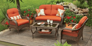 Wicker patio furniture sets-Azalea Ridge Brown resin wicker conversation set