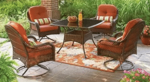 Azalea Ridge Brown resin wicker dining set