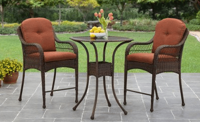 Azalea Ridge brown resin wicker tall bistro set