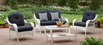 Azeala Ridge  White Wicker Patio Furniture Sets