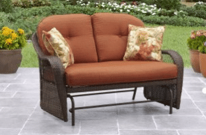 Wicker patio furniture sets-Azalea Ridge glider