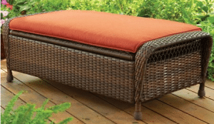 Wicker patio furniture sets-Azalea Ridge ottoman with storage