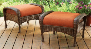 Wicker patio furniture sets-Azalea Ridge set of 2 ottomans