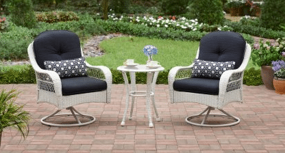 Azalea Ridge white resin wicker bistro set