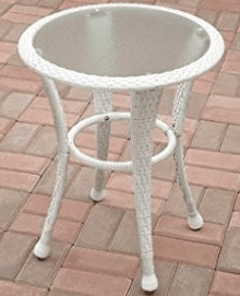 Azalea Ridge white resin wicker side table