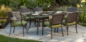 Outdoor Patio Furniture Set-Providence Dining set seats 6