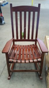 Brown Wooden Porch Rocker