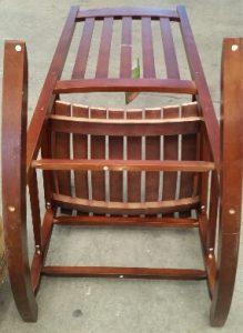 Bottom of wooden porch rocker