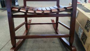 Seat of wooden porch rocker