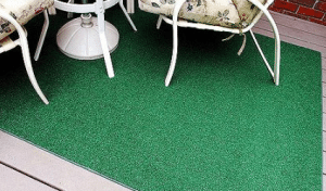 Artificial turf outdoor rug