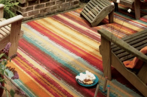 Mohawk Striped outdoor rug