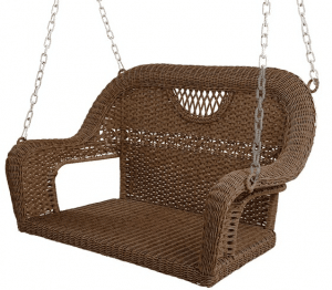Prospect Hill outdoor wicker porch swing