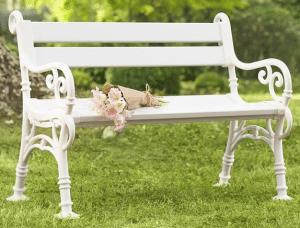Pvc garden bench