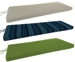 Sunbrella bench cushions
