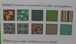 walmart color and styles for replacement cushions 2