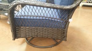 Colebrook resin wicker swivel rocker