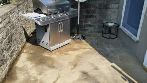 BBQ concrete patio