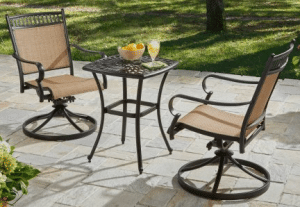 BH & G Warrens patio bistro set