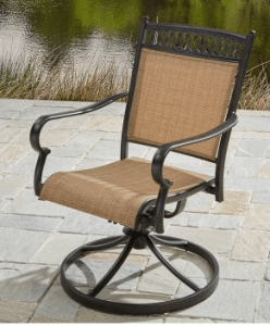 BH & G Warrens patio bistro swivel sling chair