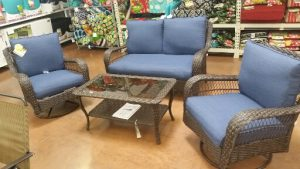 Blue Colebrook conversation set