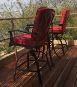 Customers bar height bistro set