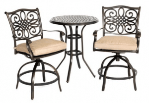 Hanover Bar Height Bistro Sets for Outdoor