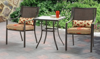 Mainstays Alexandra Square 3 pc Patio Bistro Sets