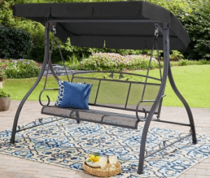 Mainstays Jefferson 3 person swing with canopy