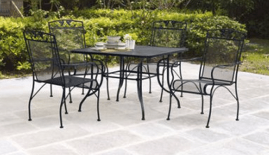 Black wrought iron patio furniture from Walmart.com