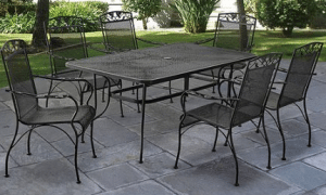 Mainstays Jefferson 7 piece dining Wrought Iron Outdoor Furniture Sets