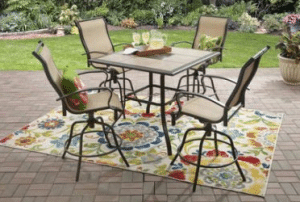 Mainstays Wesley Creek tall dining set