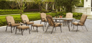 Mainstays Woodacre patio dining and leisure set