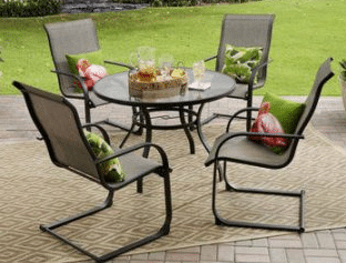 Mainstays Bristol Springs 5 piece outdoor dining set review
