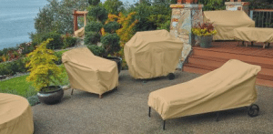 Terrazzo patio furniture covers
