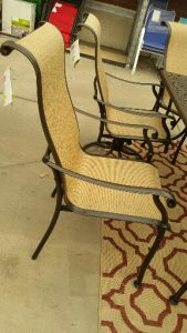 BH & G Southgate Drive straight leg sling chairs