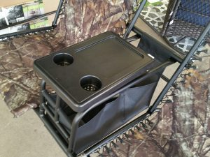 Drink and snack tray for patio swing