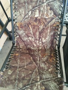 Single seat for camo patio swing